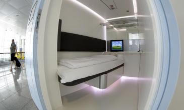 Munich airport sleeping pods
