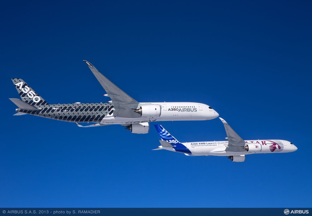 Newest Aircraft in the skies Boeing 787-9 and Airbus 350