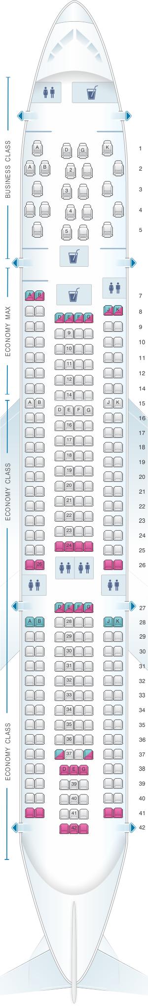 Seat Map Edelweiss Air Airbus A330 200