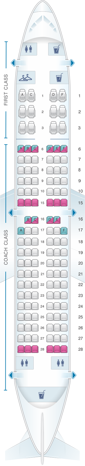 Seat map for Alaska Airlines - Horizon Air Boeing B737 700