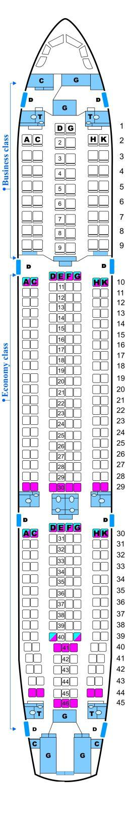 Seat map for Skyservice Airlines Airbus A330 300