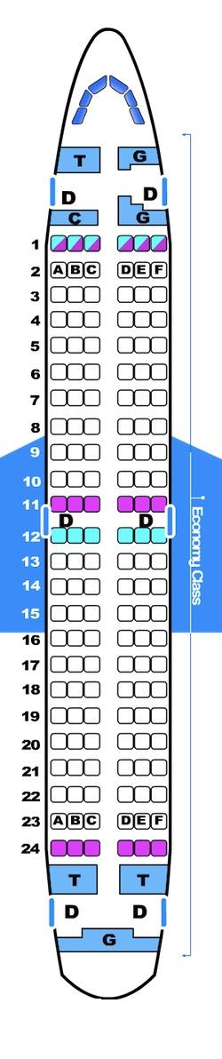 Seat map for Bmibaby Boeing B737 300
