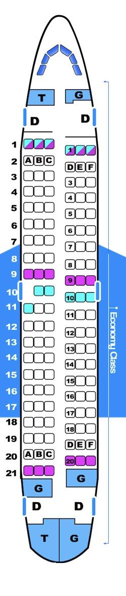 Seat map for Bmibaby Boeing B737 500