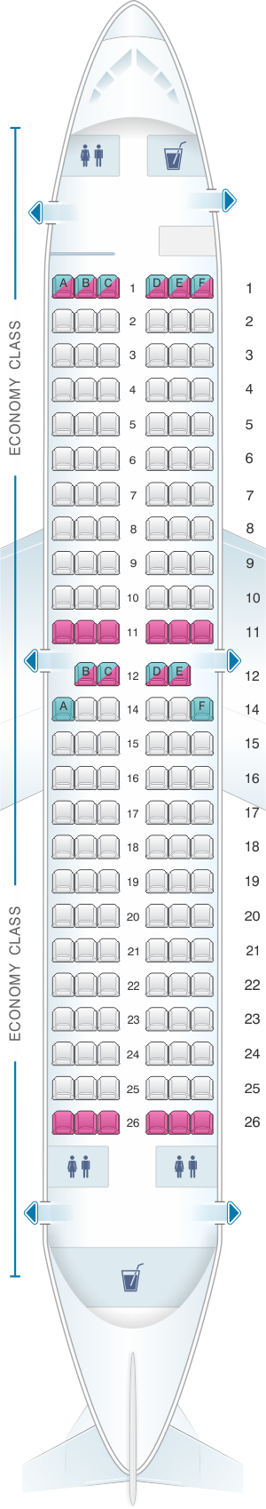 Seat map for TUIfly Boeing B737 700