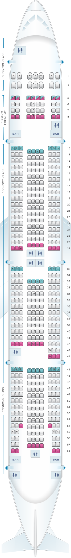 Seat Map Air France Boeing B777 300