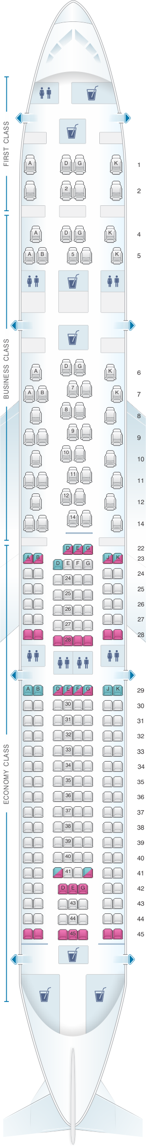 Find your seat map
