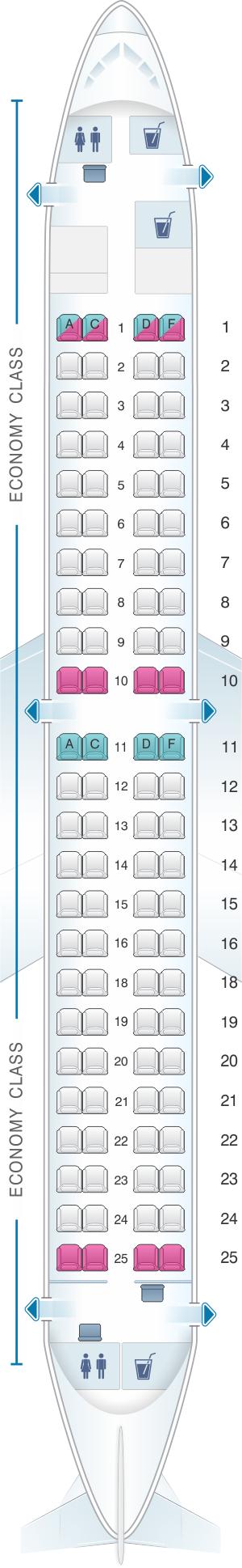 Seat Map Finnair Embraer Emb 190