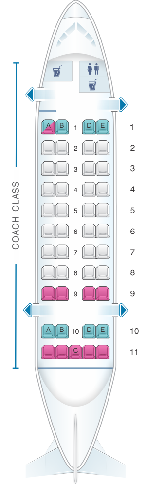 Seat map for Air Inuit Dash 8 300 45pax