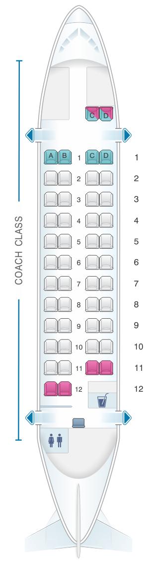 Seat map for Air Mandalay ATR 42
