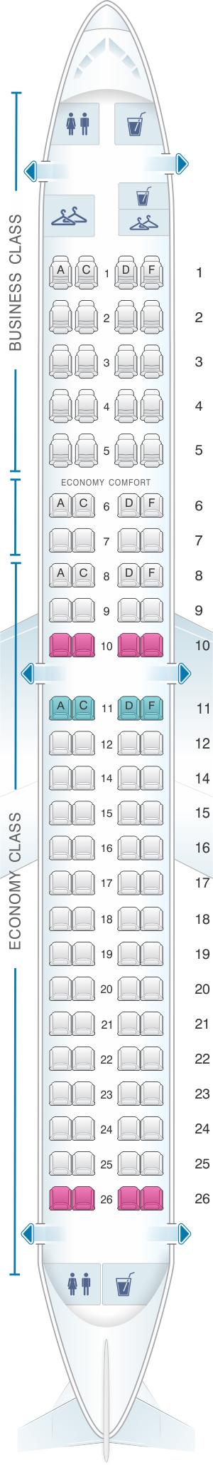 Seat Map Klm Embraer 190 Seatmaestro Com