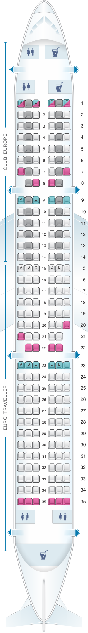 How can you access the Airbus A321 seating chart?