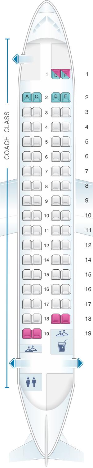 Seat Map Avanti Air Atr 72 200 Seatmaestro