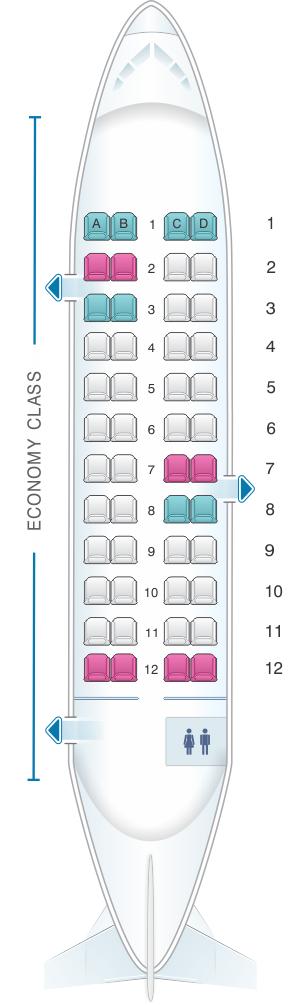 Seat map for Air Izhavia Antonov An 24