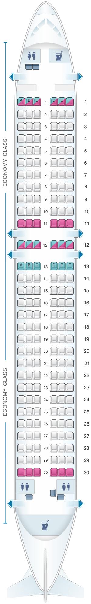 Seat Map Freebird Airlines Airbus A320 Seatmaestro Com