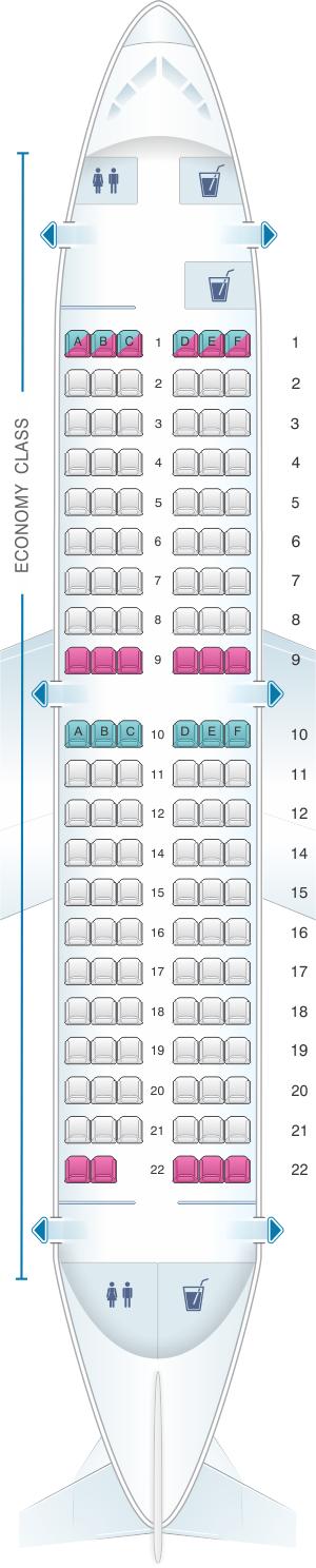 Seat map for Aviogenex Boeing B737 200