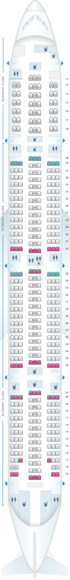 cathay pacific cx837 seat map Seat Map Cathay Pacific Airways Boeing B777 300 773 Seatmaestro cathay pacific cx837 seat map