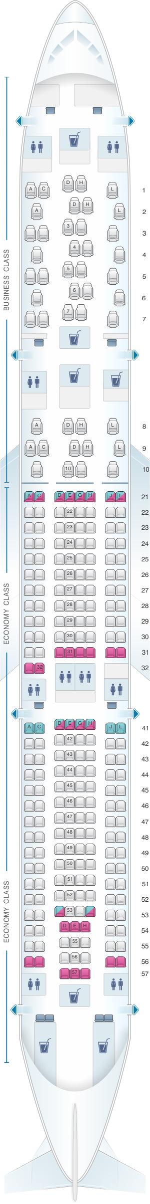 Seat Map Finnair Airbus A330 300 263pax Seatmaestro Com