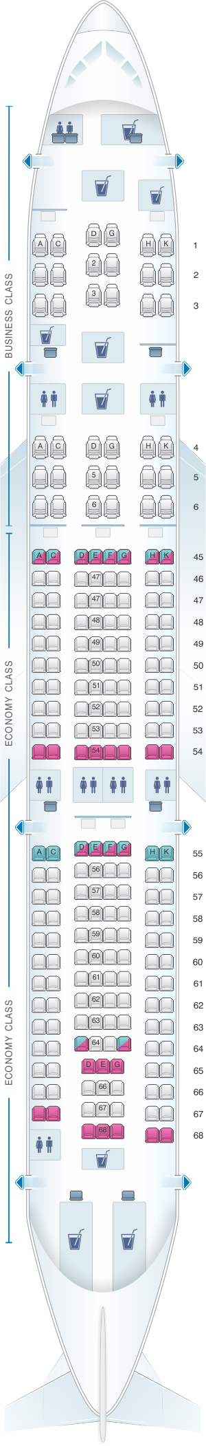 Seat Map South African Airways Airbus A330 200 Seatmaestro