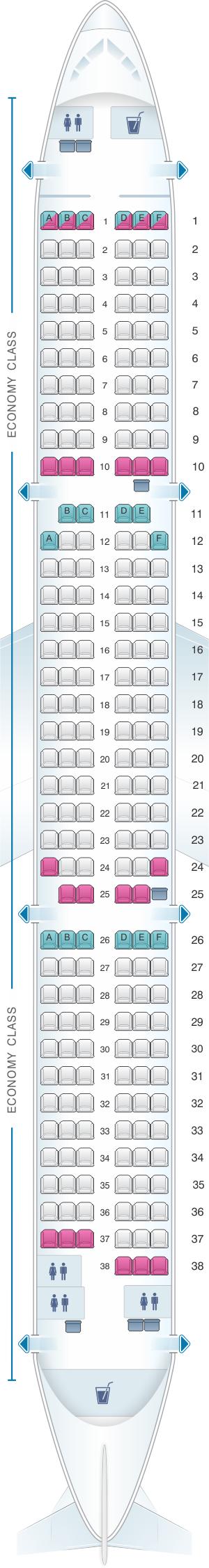 Seat Map Thomas Cook Airlines Airbus A321 Seatmaestro Com