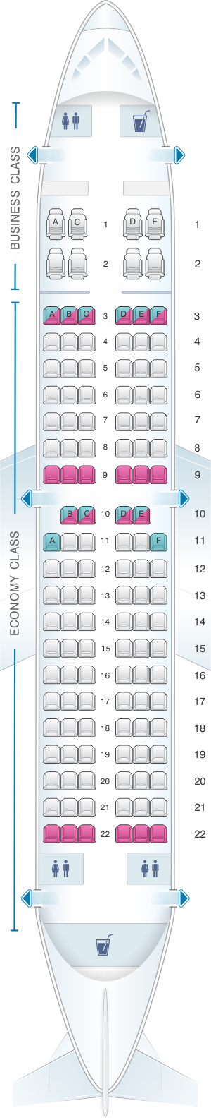 Seat map for Air Vallee Boeing B737 300