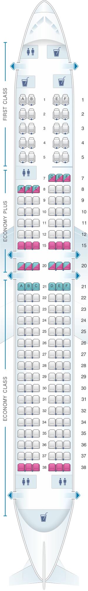 Seat Map United Airlines Boeing B737 900 Version 1 Seatmaestro