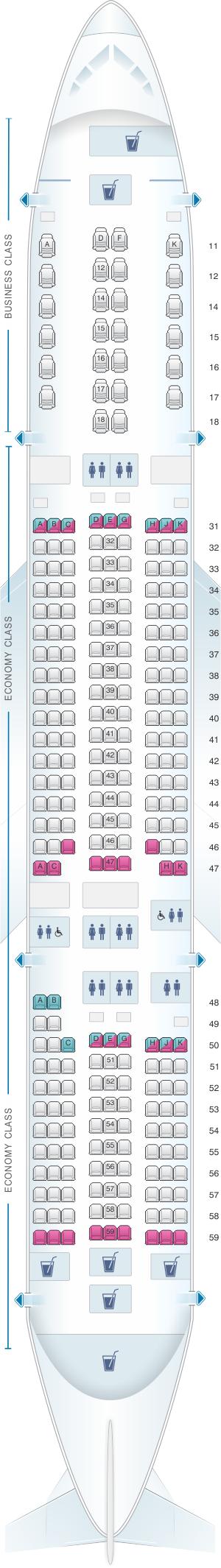 Seating Plan Boeing 777 300 Singapore Airlines ...