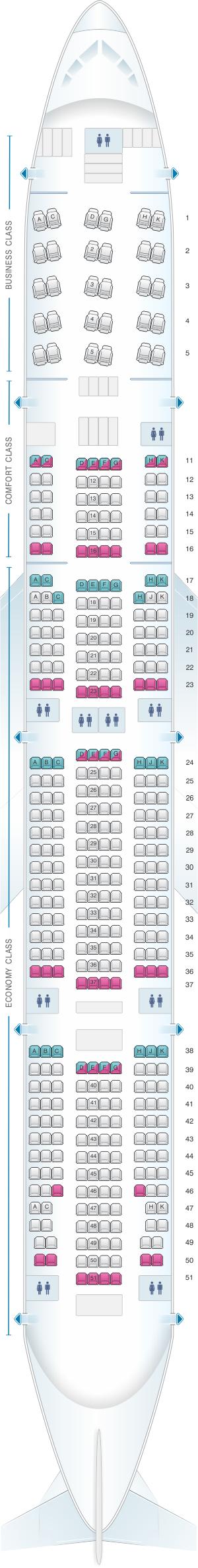 Seat Map Aeroflot Russian Airlines Boeing B777 300er Seatmaestro
