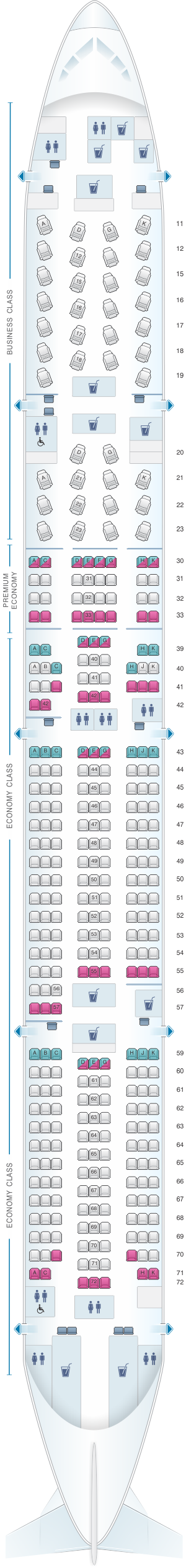 cathay pacific cx837 seat map Seat Map Cathay Pacific Airways Boeing B777 300 77g Seatmaestro cathay pacific cx837 seat map