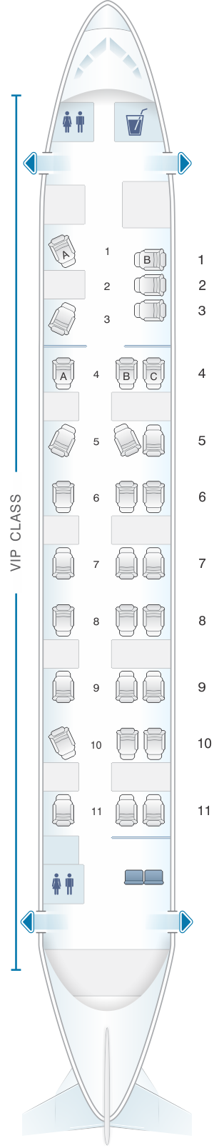Seat map for White Airways Airbus A319 CS TLU day configuration