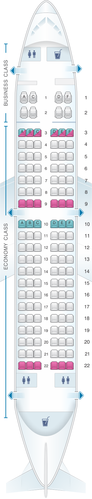Seat map for Virgin Australia Boeing B737 700