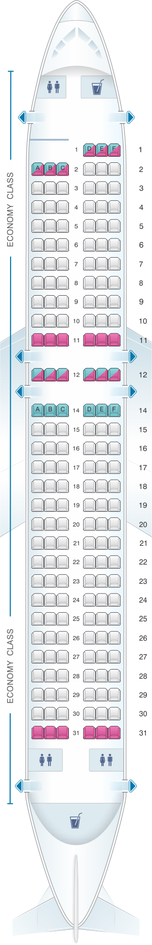 allegiant flight map with Allegiant Air Airbus A320 on Seat Map Mcdonnell Douglas Md 88 Delta Airlines Best Seats In Plane furthermore Air France Charge Obese Passengers Fat Tax April 1st in addition British Airways EasyJet Ryanair Ranked Airline Legroom League moreover Vintage Airline Seat Map American Airlines Boeing 707 323 besides Terminal Map.