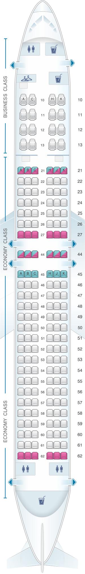 Seat map for El Al Israel Airlines Boeing B737 900ER
