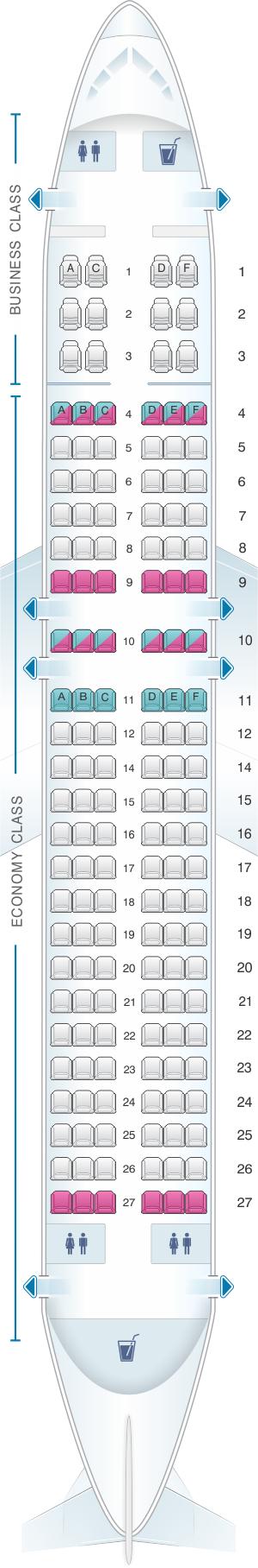 Seat Map Avianca Airbus A320 Seatmaestro