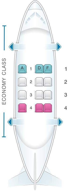 Seat Map Avianca Cessna 208 Seatmaestro Com