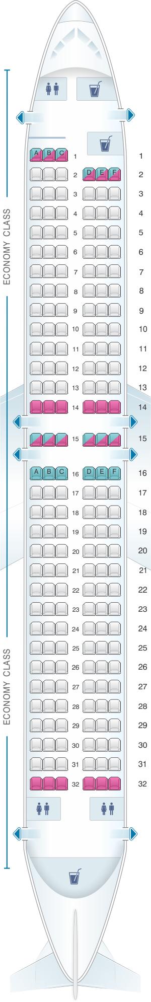 Seat Map Flydubai Boeing B737 800 Config. 1 | SeatMaestro