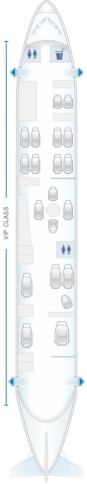 Seat map for White Airways Airbus A319 CS TQJ night configuration