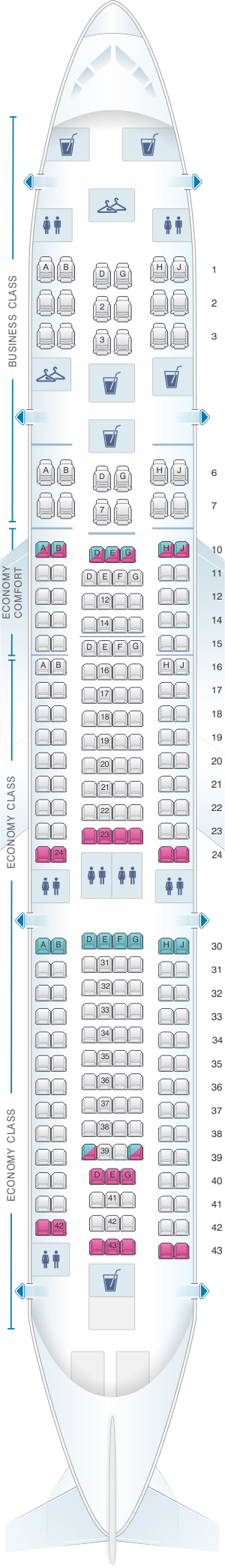 Seat Map Klm Airbus A330 200