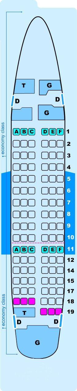 Seat map for Lauda Air Boeing B737 600