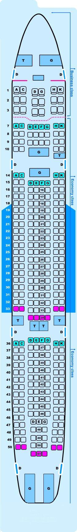 Seat Map Airbus A330 200 Seatmaestro