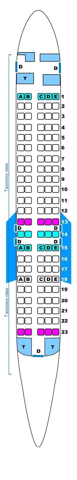 Seat Map For Spanair Boeing B717