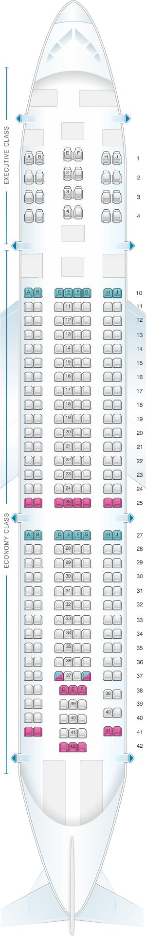 Seat Map Tap Portugal Airbus A330 Seatmaestro Com