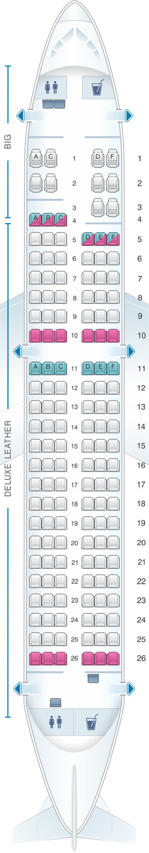Seat Map For Spirit Airlines Airbus A319