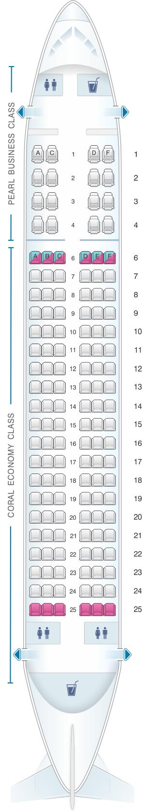 Seat Map Etihad Airways Airbus A320 200 | SeatMaestro.com