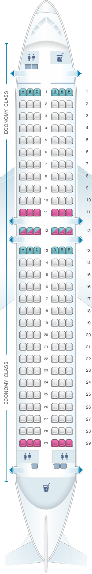seat map airberlin airbus a320 200. Black Bedroom Furniture Sets. Home Design Ideas