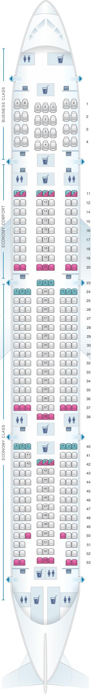 Seat Map Turkish Airlines Boeing B777 300er Seatmaestro