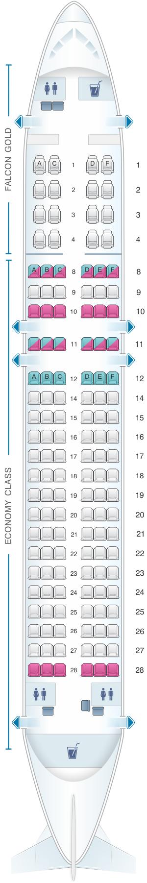 Seat Map Gulf Air Airbus A320 200 | SeatMaestro