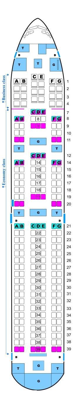 Seat Map Aerosvit Ukrainian Airlines Boeing B767 300 Er