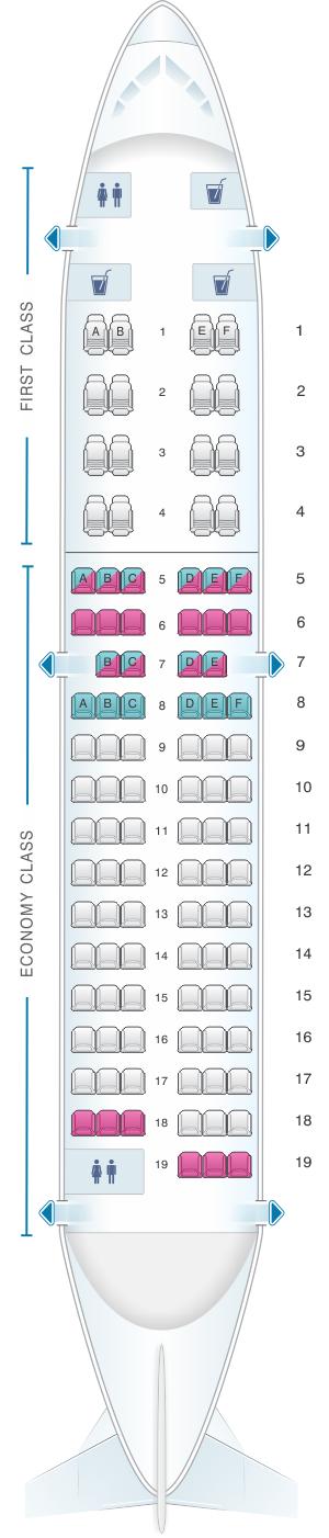 Seat Map Air Algerie Boeing B737 600 Seatmaestro