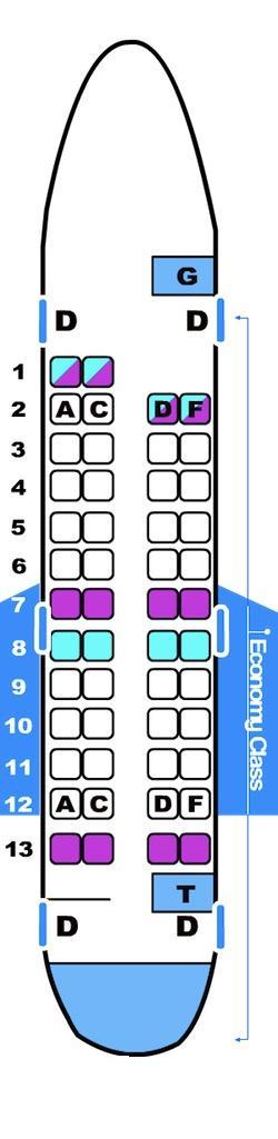 Seat map for Brit Air CRJ 100