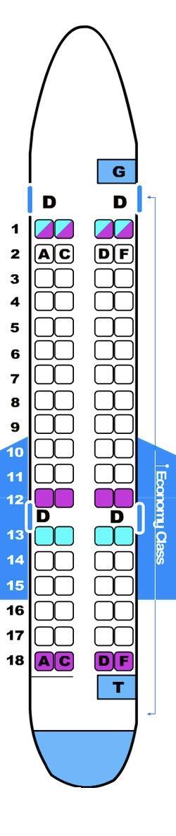 Seat map for Brit Air CRJ 700